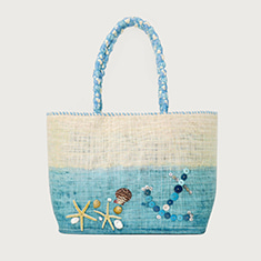 [SALE] Marine Blue Beach Bag _ 바닷속